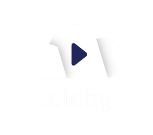 weißes Logo laleby Wolke dunkelblau Musik-Streaming-Player