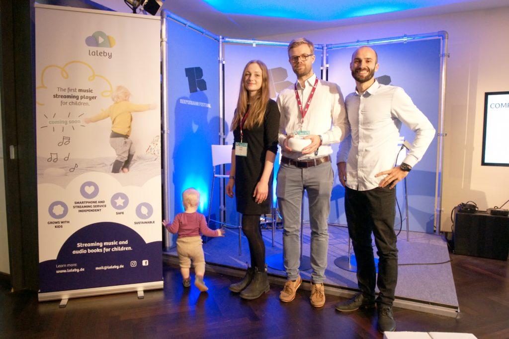 das laleby Team beim Reeperbahn Festival Präsentation bei der Innovators Suite